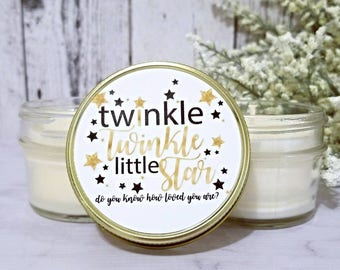 Baby Shower Candle Favors - Twinkle Twinkle Little Star - Baby Shower Favors - Custom Baby Shower Candle Favors - Soy Candle Favors