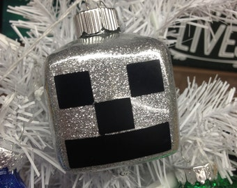 Holiday Christmas Tree Ornament Minecraft Creeper Silver