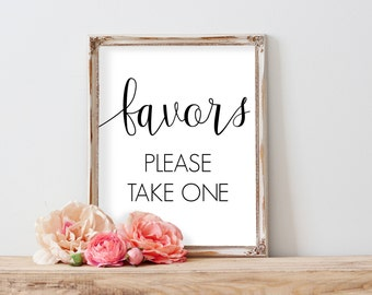 Printable Wedding Favors Sign, Favors Wedding Sign, Wedding Favor Sign, Favors Please Take One, Favors Sign, Favors Wedding Printable