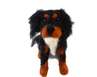 Custom Dog Sculpture, Needle Felted Dog - Cavalier King Charles Spaniel or any breed of Cat, Dog or Horse of Your Choice Made To Order