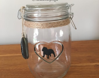 British Bulldog Medium Storage/Treats Jar