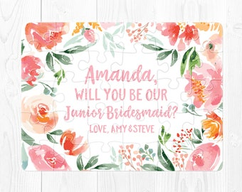 Junior Bridesmaid Puzzle Proposal Junior Bridesmaid Proposal Will You Be Our Junior Bridesmaid Will You Be My Junior Bridesmaid Peach Coral