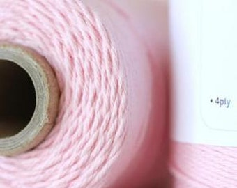 Blossom Solid Light Pink Twine, 240 yards / 219 m. 1 Full Spool, Bakers Twine, Pastel Pink Twine