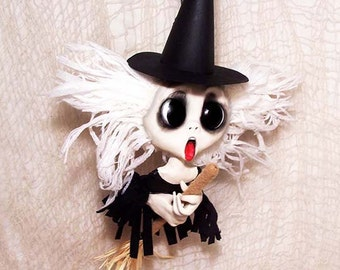 Witch Doll Ornament, Witch Ornament, Halloween Decorations, Befana, Halloween Decor, Kitchen Witch, Halloween Ornament, Christmas Witch