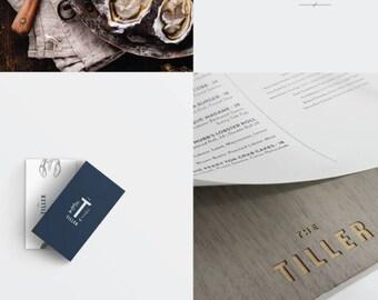 Grey Wash Bistro/Restaurant Menu Holders - MINIMUM ORDER OF 5