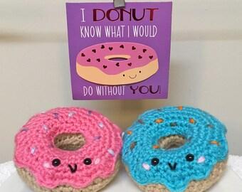 Donut Amigurumi, Crochet Donut, Donut Plushie, Crochet Sweets Dessert Food Amigurumi, Crochet Doughnut, Cute Donut, Sweet Treat Amigurumi
