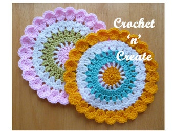 Mandala Table Mat Crochet Pattern (DOWNLOAD) CNC11