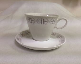 """Cup and Saucer in Franciscan """"Merry Go Round"""" Pattern"""