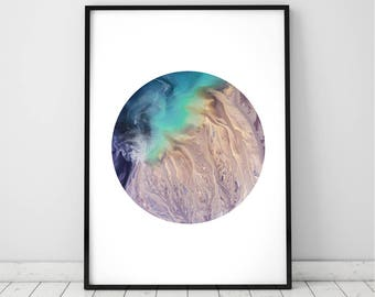 Arial Nasa Art Print, Abstract Photography, Large Printable Wall Decor, Earth Photo, Space Artwork, Digital Download