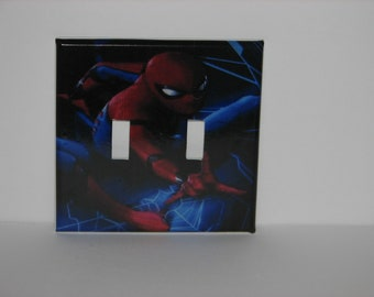 Spiderman double switch plate light cover Super Hero double toggle