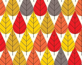 Charley Harper Canvas - Octoberama Fall - Organic Cotton CANVAS from Birch Organic Fabric