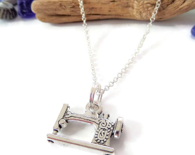 Sewing necklace, sewing machine gift, love to sew gift, love sewing, crafters jewellery, craft necklace, crafters gift, love sew necklace
