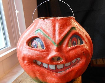 "Vintage USA Large 7"" Halloween Jack-o-Lantern-"