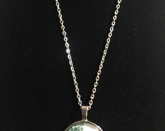 Alice and Wonderland Tea Party Pendant with Necklace