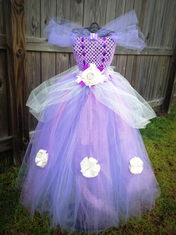 Items similar to Sofia the First Tutu Dress Birthday Halloween Costume Glitter Tulle Bottle Cap Bow Full Size 12m-7 available on Etsy & Items similar to Sofia the First Tutu Dress Birthday Halloween ...