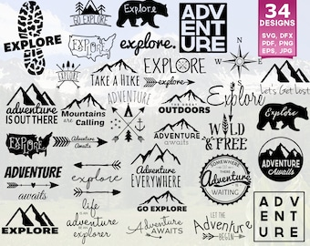 Adventure Awaits SVG, Adventure Is Out There, Adventure SVG, Adventure Shirts, Explore SVG, svg Files, Adventure Begins, Camping, Travel