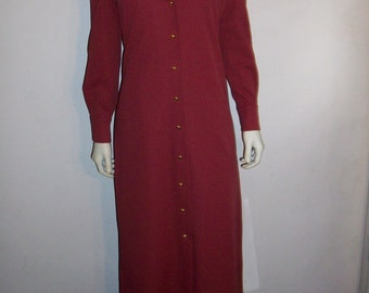 Super SALE Vintage Fred Rothschild 70's long coat with gold buttons M/L