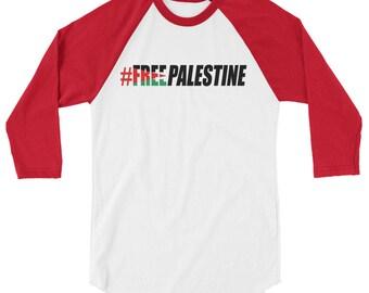 Free Palestine- Free Palestine - Palestinian Flag-raglan