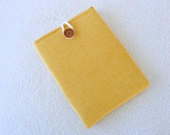 """Yellow, IPad Mini Case, Kindle Fire Case, IPad Mini Cover, Kindle Fire Cover, Nook Case, Small Tablet Cover, IPad Mini Case, 8 1/2"""" x 6"""""""