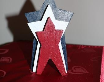 Patriotic Standing Stars Nesting Stars Americana Decor USA Decoration Patriotic Stars
