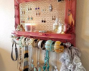 Aromatic Cedar Jewelry Organizer