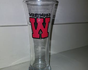 Westwood 12oz Pilsner Beer Glass hand painted by LifeofReillyDesigns