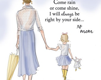 Notes From Mom - Mom and Daughter Art - Mother's Day Gifts -  Art for Moms - Inspirational Art for Women -