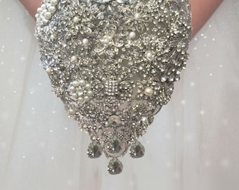 Brooch Bouquet, Teardrop Brooch Bouquet, Wedding Bouquet,  Full Price 160.00 and up