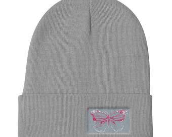 Monarch Butterfly - Knit Beanie