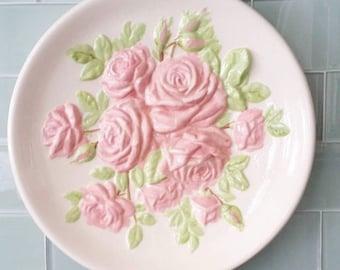 Ceramic Rose Plaque