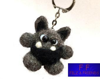Monster key ring, grey monster