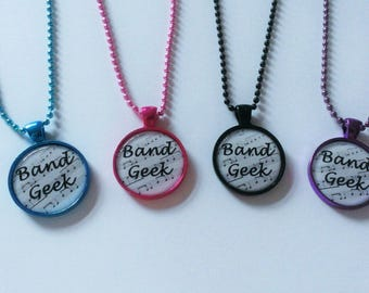 "YOU PICK ""Band Geek"" Cameo Necklace"