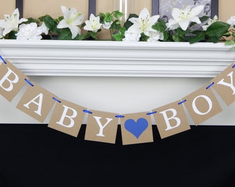 baby shower decoration, boy baby shower banner, party supplies, gender reveal party, baby shower party decorations, its a boy gender reveal