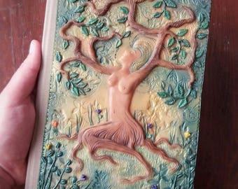 REDUCED-Tree Nymph Journal, woman journal, woman Tree, tree woman, woman notebook, spirit journal, woman empowerment, sacred feminine