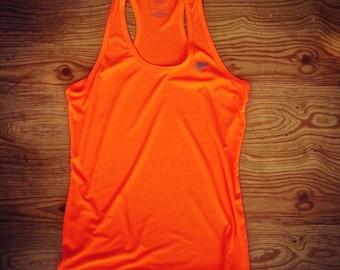 Runyon Women's Neon Orange Yoga Tank Made In USA