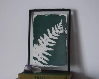 Botanical mono print: Fern (green)