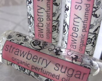 Strawberry Sugar Organic Perfumed Oil
