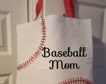 Tote for baseball game - Bag for little league Game - Little League Baseball - Baseball Mom Tote - Moms Baseball Tote - Custom Baseball Game