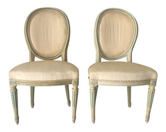 chairs for bedroom. Antique Set of 2 French Side Chairs Bedroom  Hallway chairs Etsy