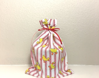 Baby Shower Favor Bags, Set of 5, Custom Fabric Bags, Party Favor Bags, Valentine Favor Bags, 5 x 7, Choice of Fabric, Birthday Favor Bags