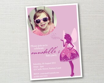 Fairy sparkle birthday invitation