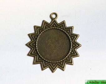 """Pendant """"Star"""" Metal round cabochon ø25mm ø40mm"""