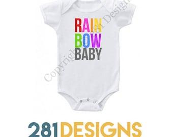 Rainbow Baby Onesie, Baby Girl Onesie, Girl Onesie, Holiday Gift, Cute Onesie, Baby Gift, Baby Onesie, Miracle Baby Onesie
