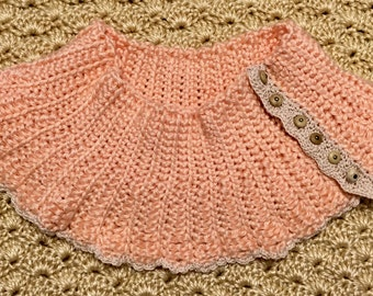Hand-crocheted, vintage-inspired Victorian scarflette neck warmer