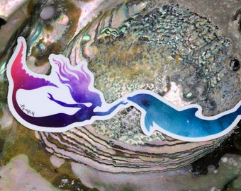 Galaxy Mermaid Vinyl Sticker | Laptop Decal | Water bottle Sticker | Mermaid Sticker | Mermaid Decal | Galaxy Mermaid Decal | Mermaids