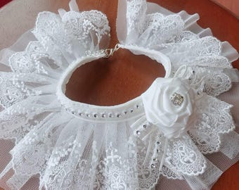 Wedding Dog collar (Small Size), Final Sale!