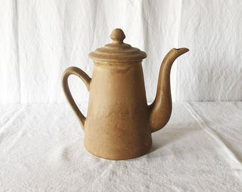 Vintage French Ceramic Coffee Pot / Vintage Ceramic Pottery / Vintage earthenware coffee pot / organic earthenware / rustic coffee pot
