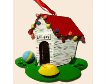 Personalized  Christmas Ornament - Dog house Christmas ornament - Personalized Dog Ornament - Stocking stuffer