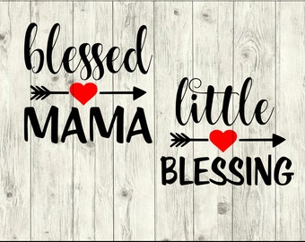Blessed Mama SVG Bundle, Mothers Day SVG bundle, mom cut file, mom clipart, svg files for silhouette, files for cricut, svg, dxf, eps, png