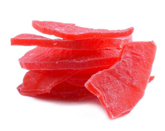 Dried Papaya Strawberry Slices (Sweetened)